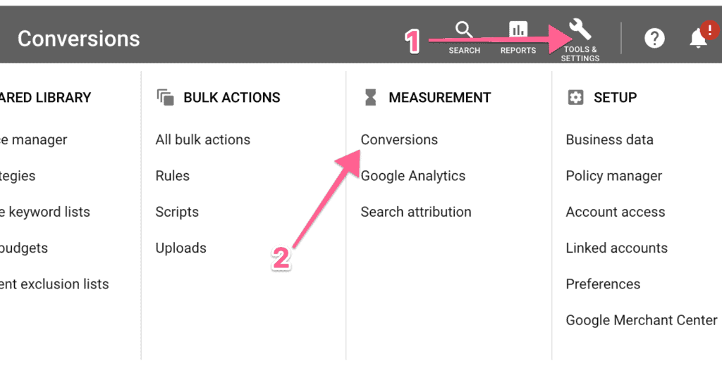 Google Ads Conversion Actions
